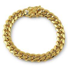 10mm 14K Gold Premium Mens Cuban Bracelet
