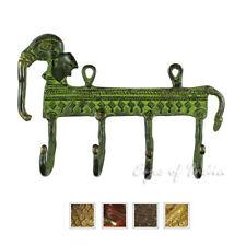 """6"""" Messing Elefant Dekorative Wand Haken Garderobe Bronze Antik Boho Bohemien"""