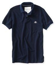 AEO Aeropostale A87 Logo Solid Polo T-Shirt M/L