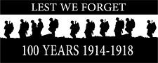 100 Years Lest We Forget Heroes Soldier/Military Car/Van Sticker(Vinyl Decal)