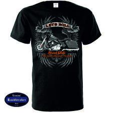 T Shirt HD V Twin Biker Chopper&Oldschooldruck 8 Farbtöne Modell Lets Ride