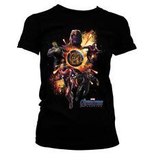Ladies Avengers Endgame Black Fitted T-Shirt - Womens Marvel Tee