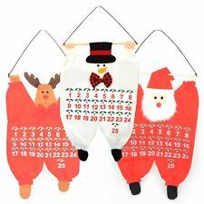 Tessuto da appendere calendario dell'Avvento Natale Babbo Natale Pupazzo di Neve Renna Bambini Decorazione