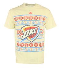 Adidas NBA Men's Oklahoma City Thunder Natural Printed Short Sleeve T-Shirt