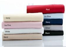 2 IVORY Cream 375TC 100% Egyptian Cotton European Pillowcases