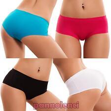 Slip donna culotte liscio basic intimo lingerie no segni vari colori nuovi HC-04