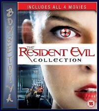 RESIDENT EVIL-  1 2 3 4 DVD BOXSET-APOCALYPSE, EXTINCTION & AFTERLIFE *BRAND NEW