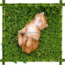 Sticker autocollant Cadre bambou Chaton7176