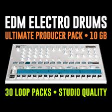EDM Electro Drum Machine Loops & échantillons-Ultimate producteur Pack - 24-Bit WAV