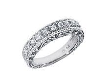 0.35ct Diamond Antique Milgrain Wedding Ring 10k White Gold Round Prong I SI2