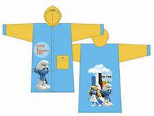 Los Pitufos-Niños Impermeable Amarillo Y Azul Cielo Pvc Impermeable