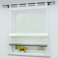 Raffrollo Weiß Raffgardine Modern Fenstergardine Gardinen Wohnzimmer Bestickt