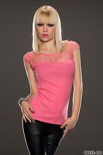 Women's Party Club Wear Elegant Lace Blouse Shirt Top Wear UK size 10