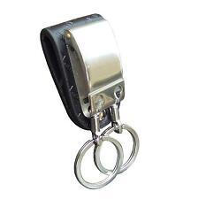 Sr cinturón de cuero clave titular / Doble Split Anillos-Regalo