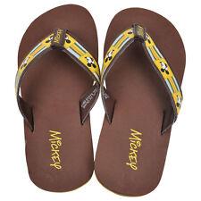 Disney Mickey Mouse BRS Mick Youth Boys Brown Beach Wear Flip Flops Sandals