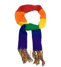 Unisex Uomo Donna Gay Pride Rainbow Raso Motivo a Righe FASHION Scarf