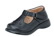 Vegace Baby Toddler Infant Girl Children Walking Black Leather Shoe Loop Strap