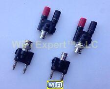 BNC Male Female To Banana Male Female RF Connector Coax Adapter Radio Antenna US