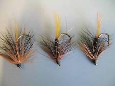 3 x KATE MCLAREN WET TROUT FLIES, sizes 8, 10, 12,14,16  available