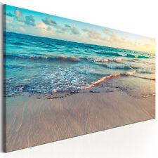 BILDER LEINWAND BILD Meer Strand Natur WANDBILDER Kunstdruck AKUSTIKBILD