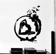 Vinyl Wall Decal Yoga Zen Circle Meditation Buddhism Birds Stickers (ig4591)