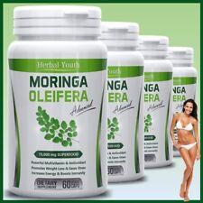 Moringa Oleifera LEAF EXTRACT Capsules 10,000mg SUPERFOOD Anti Ageing Aging Pill