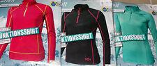 Damen Ski FUNKTIONSSHIRT Fitnessshirt Laufshirt Gr.S M L pink/schwarz/türkis NEU