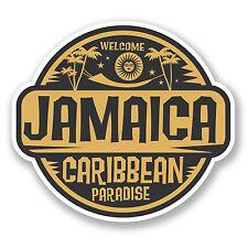 2 X Jamaica Jamaica Etiqueta Auto Moto Ipad Laptop viaje Equipaje Tag Regalo # 5748