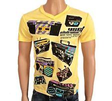 VSCT Clubwear Blaster V-Neck t-shirt Yellow tape camisa casete estéreo portátil