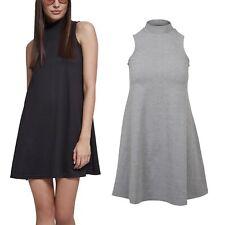 Urban Classics Ladies - A-LINE Stehkragen Sommer Mini Kleid