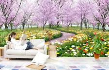 3D Garten Lila Baum 885 Tapete Wandgemälde Tapete Tapeten Bild Familie DE Summer