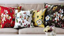 100% Cotton Cushion Cover Beautiful Floral Print Assorted Colors 38cm x 38cm