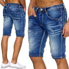 Herren kurze Hose Zerissen Stonewashed Herrenshorts Ripped Frayed Männer Shorts
