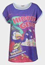Las nuevas señoras alma valiente pirata loro gemas ocultas Retro Cool Tee Shirt Top