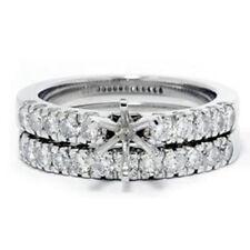 1ct Diamond Engagement Matching Wedding Ring Setting