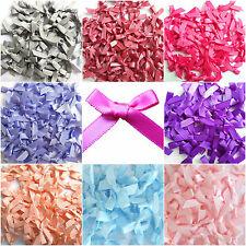 7mm Mini Satin Ribbon Bows Choice Single / Mixed Colour For Art & Craft Sewing