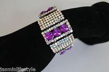 Ladies Beautiful Diamante Chain Bracelet Bridal Prom Party Costume Jewellery