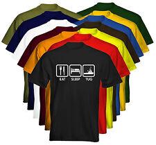 *New* Eat Sleep Clothing Mens T-Shirt Tug Tugboat Size & Colour Options
