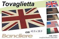 TOVAGLIETTA COLAZIONE BANDIERA ITALIA INGHILTERRA AMERICA CM 43X21 GICOS 579417