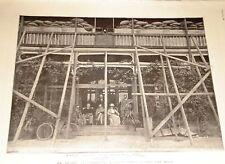 1900 PRINT CECIL RHODES SIEGE KIMBERLEY BARRICADE HOUSE