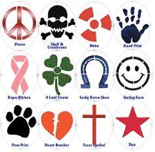 TOURNA Fun Racquet String Stencils Peace/Nuke/Heart/Smiley Face