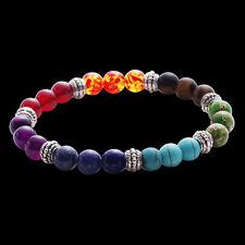 New Chakras Bracelet Wrist Mala Reiki Charged Energy Boho Women Man Bracelets