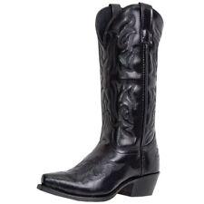 Laredo Western Boots Mens Hawk Cowboy Stitched Snip Toe Black 6860
