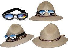 Ur-Tiroler Hut  beige mit / ohne Gletscherbrille Trachtenhut Kordel Oktoberfest