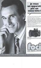 PUBLICITE ADVERTISING  1988  PENTAX SFX Foci la photo facile