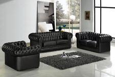 Sofagarnitur Chesterfield Leder Sitz 3+2+1 Polster Couch Set Garnitur Neu 201821