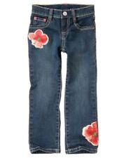 GYMBOREE BURST OF SPRING DENIM FLOWER SKINNY JEANS PANTS 3 4 5 6 7 8 NWT