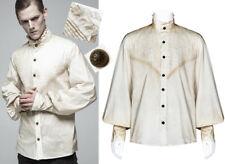 Steampunk Hemd Shirt Gothic Barock Victorian Gefaltet Vintage PunkRave Herren W