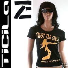 TICILA★MISS GUN PUSSY★Gold Cowgirl Babe T-Shirt S/M 38