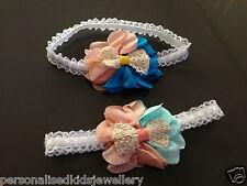 **BABY / GIRLS BEAUTIFUL CHIFFON FLOWER HEADBAND WEDDING BIRTHDAY HEAD BAND HAIR